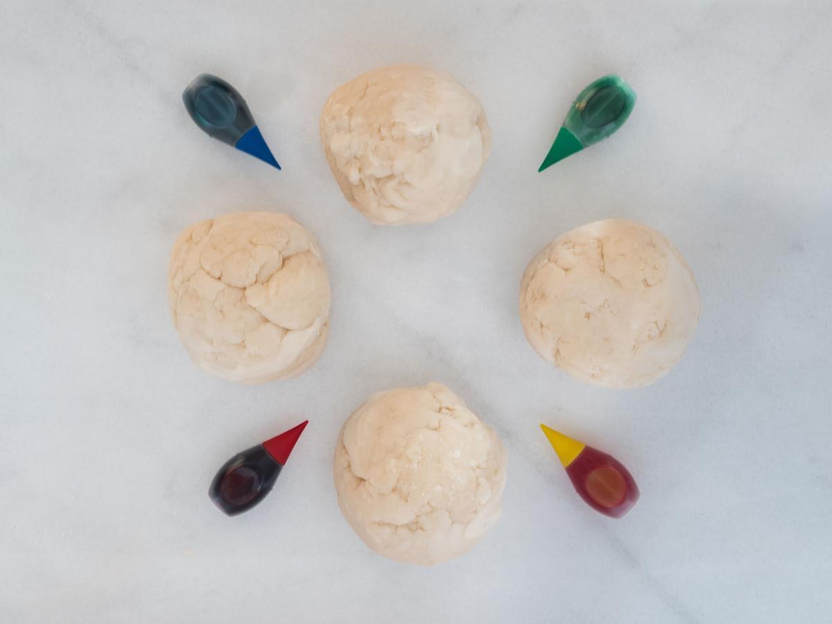 Playdough Before Food Coloring