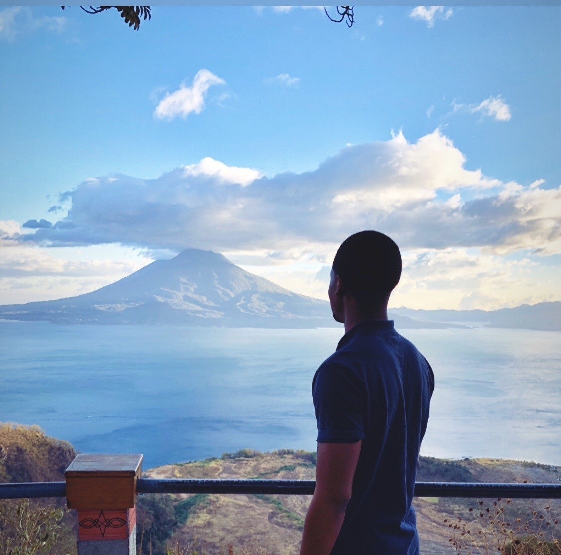 Overlooking Lake Atitlán