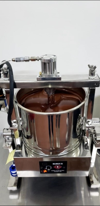 Conching at SERO chocolate processing facility