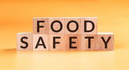 Food Safety spelled out in blocks - photo credit Getty