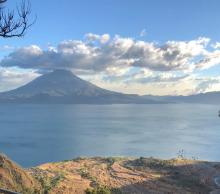 Picturesque view of Lake Atitlán